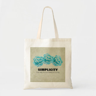 Simplicity Typography Quote with Teal Roses