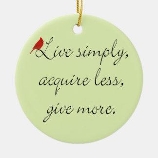 Simplify Christmas Ornament