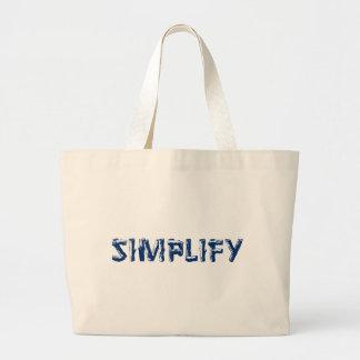 Simplify Large Tote Bag