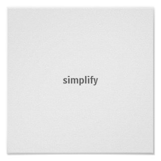 simplify poster