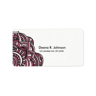 Simplistic Minimalist Black and Purple Medallion Label
