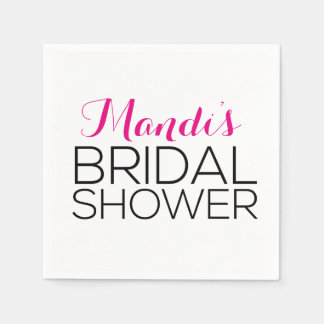 Simplistic & Modern Bridal Shower Napkins