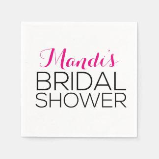 Simplistic & Modern Bridal Shower Napkins Paper Napkin