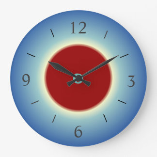 Simplistic Red/Blue/Yellow > Wall Clock
