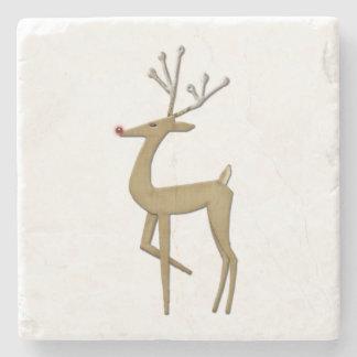 Simplistic Reindeer Marble Coasters