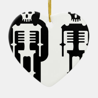 Simplistic skeleton Icon Ceramic Heart Ornament
