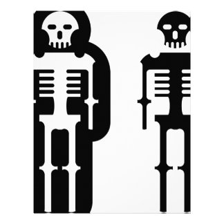 Simplistic skeleton Icon Letterhead Template