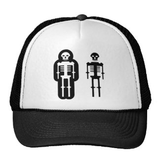 Simplistic skeleton Icon Trucker Hat