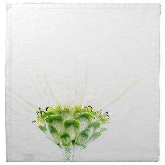 Simplistic White Zinnia Napkin