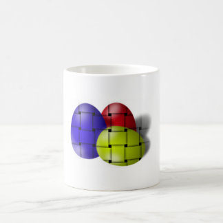 Simplistic Woven Bright Eggs for Easter Mug