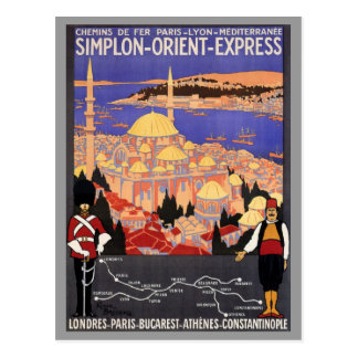 Simplon Orient Express to Constantinople Postcard