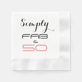 Simply 50 & Fab Birthday Party -Paper Napkins Paper Napkins