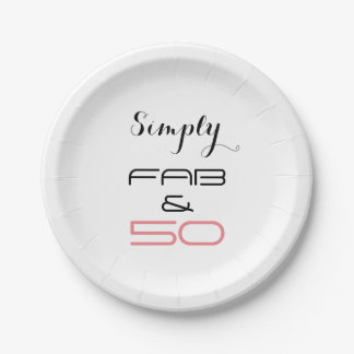 Simply 50 & Fab - Paper Plates 7 Inch Paper Plate