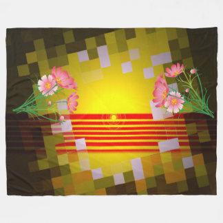 Simply Awesome Warm Sunrise Fleece Blanket, Large