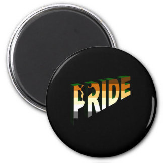 Simply Bear Pride 2 Inch Round Magnet