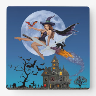 SIMPLY BEWITCH'N SQUARE WALL CLOCK