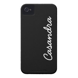 Simply Black Solid Color Customize It iPhone 4 Case-Mate Cases