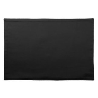 Simply Black Solid Color Customize It Place Mats