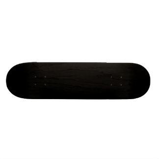 Simply Black Solid Color Customize It Skateboard Decks