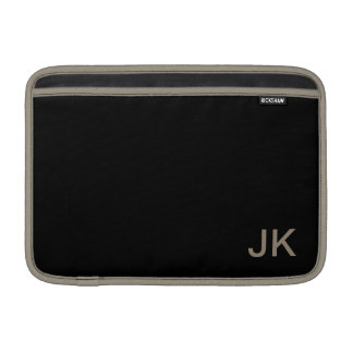 Simply Black Solid Color Customize It Sleeve For MacBook Air