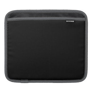 Simply Black Solid Color Customize It Sleeves For iPads
