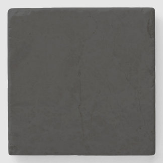 Simply Black Solid Color Customize It Stone Coaster