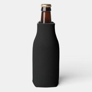 Simply Black Solid Colour Customize It Bottle Cooler