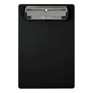 Simply Black Solid Colour Customize It Mini Clipboard