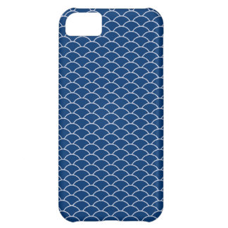 Simply Blue Japanese Wave Pattern iPhone 5C Cases