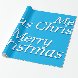 Simply Blue Merry Christmas Wrapping Paper 2