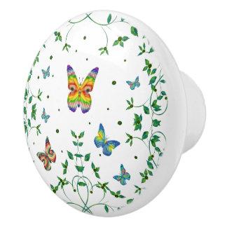 Simply Butterfly Ceramic Knob