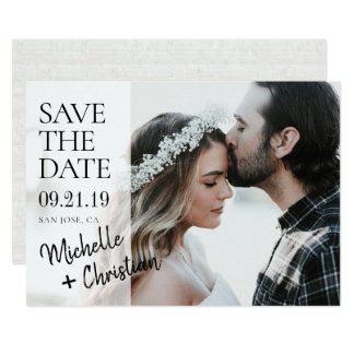 Simply Chic Photo Wedding Save the Date Card