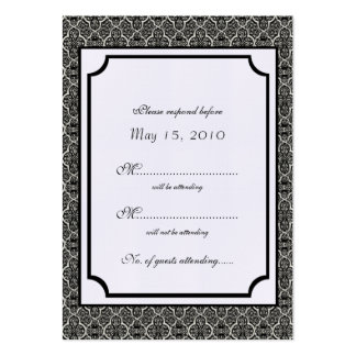Simply Classic Damask RSVP Card Business Cards