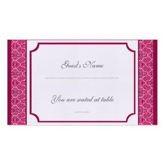 Simply Classic Damask Wedding Placecard Business Cards