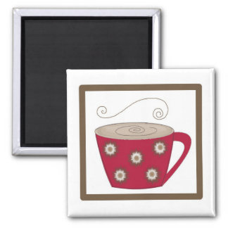 Simply Coffee Square Magnet