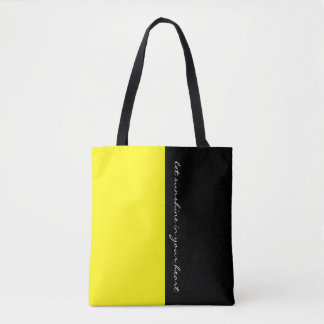 Simply colors LEMON YELLOW & your Text Tote Bag