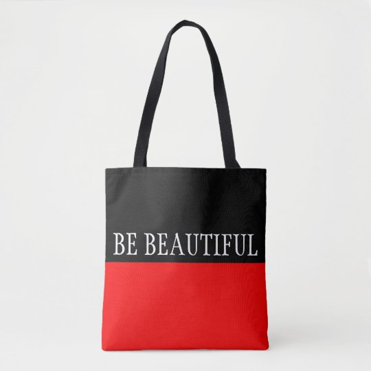 Simply colours FIRE RED & your Text Tote Bag