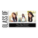 Simply Cool Graduation Announcement Photo Card Template