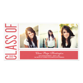 Simply Cool Graduation Announcement Photo Greeting Card