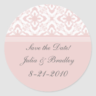 Simply Dazzling Damask Save the Date Stickers