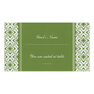 Simply Dazzling Damask Wedding Place Card Business Cards