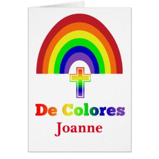 Simply De Colores Greeting Card