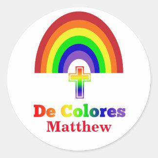 Simply De Colores Round Sticker