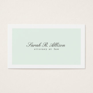 Simply Elegant Attorney Light Aqua Business Card