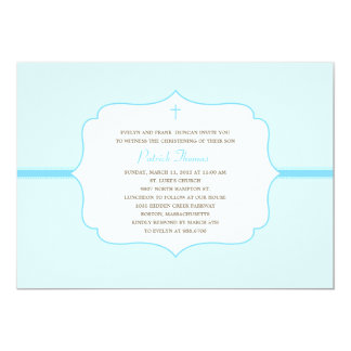 Simply Elegant Baptism/Christening Invite - Blue