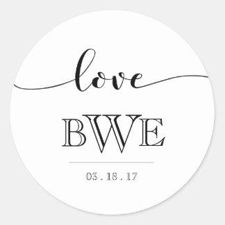 Simply Elegant Calligraphy Wedding Sticker