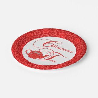 Simply Elegant Christmas Tea Party Paper Plate
