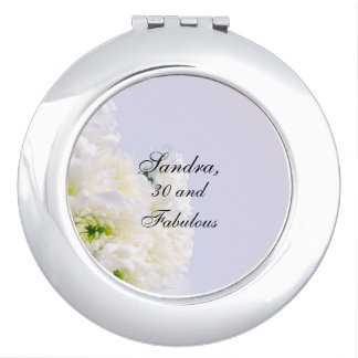 Simply Elegant, Classic White Bouquet template Mirrors For Makeup