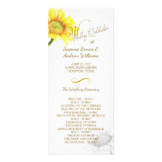 Simply Elegant Sunflower Wedding Program Personalized Rack Card