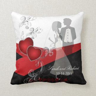 Simply Elegant Wedding | DIY Name & Date Throw Pillow